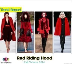 Red Riding Hood. Red Coat #Fashion Trend for Fall Winter 2014 #FW2014 #Fall2014Trends