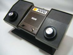 Pong...our first video game...we had to sit about 2 feet from the tv screen.