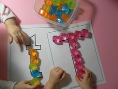 Ideas for learning letters and numbers
