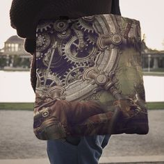Steampunk Gears Tote Bag
