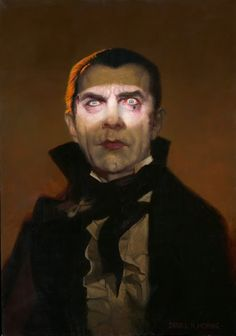 Happy Birthday Bela Lugosi (1882-1956) #Dracula Art by Daniel Horne