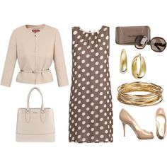 Polka Dot Dress, created by tajarl on Polyvore