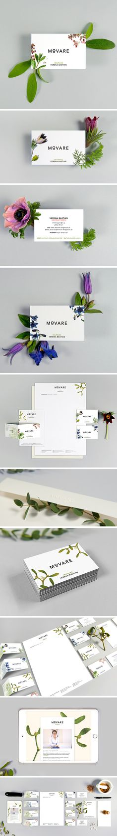 Corporate Design für MOVARE |  Editorial, Logo, Signet, Briefschaft, Business cards, Print, Web, Illustration, floral, clean, modern, reduced, Photography, Heilpraxis, manx, manxdesign, agency |  www.manx.de
