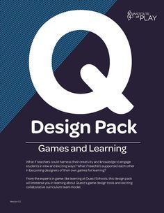 Institute of Play: Game design pack. Nice free tool for designing your own games for the classroom. Also useful for students doing independent project game development.