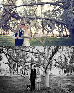 """@Aisha Lee Martinez.. maybe a few frames hanging from the trees? we could set up a more natural """"photobooth"""" kind of thing? too much?"""