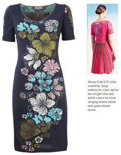 IVKO Robe en coton en tricot intarsia floral pour femme 61522 en 018 anthracite profonde