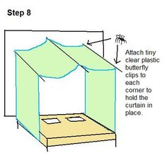 How to Make a Lighted Bed Canopy - DIY offering step-by-step instructions on how to make your own lighted bed canopy for around $40 bucks.