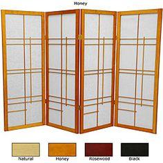 Wood and Rice Paper Eudes 48-inch Shoji Screen (China)