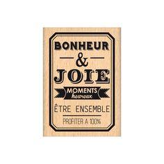 Tampon bois BONHEUR ET JOIE
