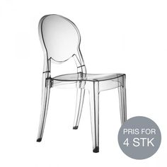 Igloo Stol - Transparent - 4 stk