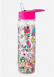 Fancy Water Bottles, Glitter Water Bottles, Water Bottle Design, Copo Starbucks, Diy Gift For Bff, Unicorn Room Decor, Kid Essentials, Cute School Supplies, Cute Cups