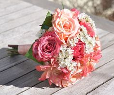 Summer Wedding Bouquet Keepsake #weddingbouquet #wedding #flowers by @hollysflowers93, www.hollysweddingflowers.com or www.etsy.com/shop/Hollysflowershoppe