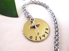 Hand Stamped Jewelry Personalized Jewelry by CharmAccents on Etsy