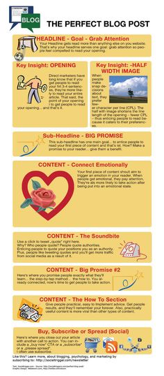 El post perfecto para tu Blog #infografia #infographic #socialmedia