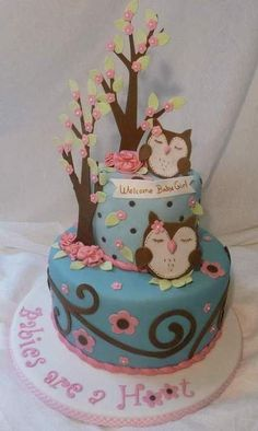 owl cake - Google Search