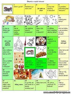 Vánoční hra pro děti - konverzace Christmas Time, Xmas, Learning, Christmas, Studying, Navidad, Teaching, Noel, Natal