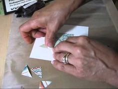 video tutorial: Star Quilt for cards by  frenchiestamps.com ... informative and easy ...
