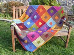 Ravelry: yarnhabit's Matt's Log Cabin of Many Colors
