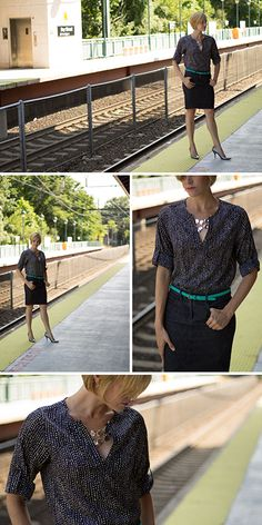 Stitch Fix -- Love the v neck and pattern. Wonder how the length and fit through the waist is?