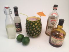 Make your father a great drink like a Mai Tai in a pineapple for Father's Day  http://blog.diynetwork.com/maderemade/2014/06/09/five-boozie-fathers-day-gifts/?soc=pinterest