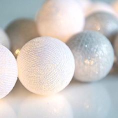 Aito Nordic String Lights, Decorating Your Home, Projects To Try, Bulb, Silver, Cotton, Handmade, Design, Diy Room Decor