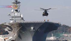Japão enviará o Porta Helicópteros Izumo para o Mar da China Meridional. O Japão planeja enviar seu maior navio de guerra em uma excursão de três meses pelo