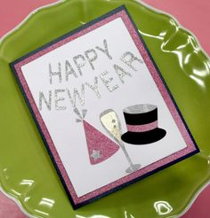 happy new year card new year card making scrapbooking happy new