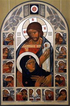 Dormition Contemporary icon by Lyuba Yatskiv (Ukraine)