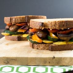 This veggie sandwich is the combination of all my favorite things: sundried tomatoes, creamy goat cheese, and grilled veggies.