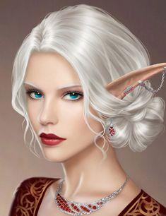Nenil âr Lútphen - High elf mage princess RPG character
