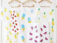 DIY: Früchte mit Kartoffeldruck