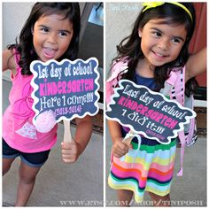 1st and Last Day of School - Kindergarten Printable Signs