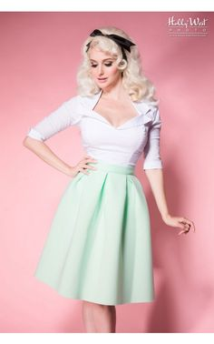 Out of the Box Skirt in Mint Green