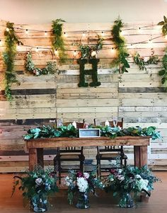 Bride and Groom table. Rustic Chic Wedding