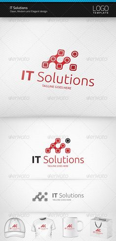 IT Solutions - Logo Design Template Vector #logotype Download it here: http://graphicriver.net/item/it-solutions-logo/1453722?s_rank=56?ref=nexion