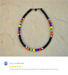 Black Beaded necklace and headpieceAfrican by akwaabaAfrica Rope Necklace, Tribal Necklace, Black Necklace, Beaded Jewelry, Beaded Bracelets, Unique Jewelry, African Necklace, Thoughtful Gifts, Headpiece
