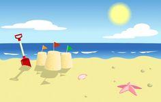 Beach Cartoon Background