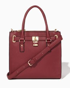 charming charlie | Lockbox Square Satchel #charmingcharlie