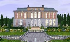 Mod The Sims - Versaillesque - A Summer Palace The Sims 4 Lots, Summer Palace, Sims 3, Home Art, Mansions, House Styles, Home Decor, Decoration Home, Manor Houses