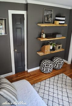 Jason's Home Office/Guest Room - Dear Lillie Studio Guest Room Office, Home Office, Piece A Vivre, Living Room Grey, Living Rooms, Room Colors, Dear Lillie, Home Interior Design, Room Inspiration