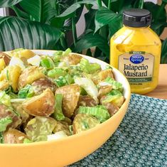 I love you mom, but I have to say my spicy summer potato salad is better than yours. This healthy spicy summer potato salad will be a crowd favorite! Healthy Facts, Healthy Salads, Spicy Potato Salad Recipe, Stuffed Jalapeno Peppers, Spring Recipes, Love Food, Salad Recipes, Mustard, Bliss