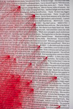 "In William Shakespeare's Romeo and Juliet, the word ""Juliet"" appears 180 times and the word ""Romeo"" another 308 times. Beetroot Design Group created a poster to bring these star-crossed lovers together with 55,440 red lines."