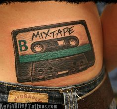 Cassette Tape Tattoo - See more at KevinRileyTattoos.com - Phila PA   Flickr - Photo Sharing!