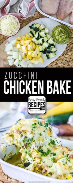 Chicken Zucchini Casserole recipe- Perfect one dish dinner - Kolay yemek Tarifleri Easy Baked Chicken, Chicken Recipes, Raw Chicken, Chicken Breast Recipes Healthy, Frozen Chicken, Recipe Chicken, Turkey Recipes, Easy Family Meals, Easy Meals