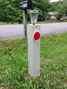 Driveway Markers 1 4x4x8 Cut In Half Solar Lights Dollar