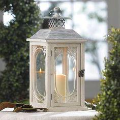 Antiqued Cream Lantern | Kirklands