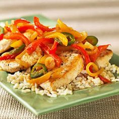 Prepare Grilled & Ready® Chicken Breast Fillets according to package directions. Stuffing Recipes, Turkey Recipes, Chicken Recipes, Chicken Stuffed Peppers, Stuffed Sweet Peppers, Chicken Breast Fillet, Healthy Chicken, Entrees, Main Dishes
