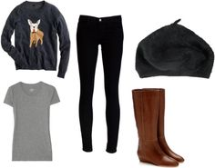 """""""OOTD Friday 2/8/13"""" by princessmd ❤ liked on Polyvore"""
