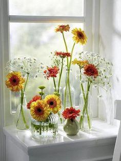 flores e garrafinhas !!!