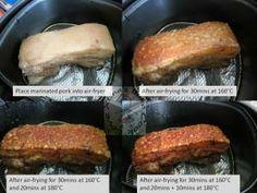 Air-fried Crispy Roast Pork Air-frying Process